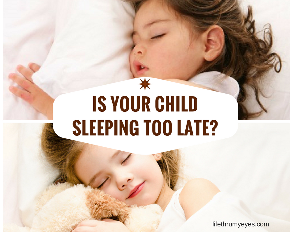 Is your child sleeping too late