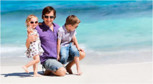 Generic-Father-and-Two-Children-on-Beach